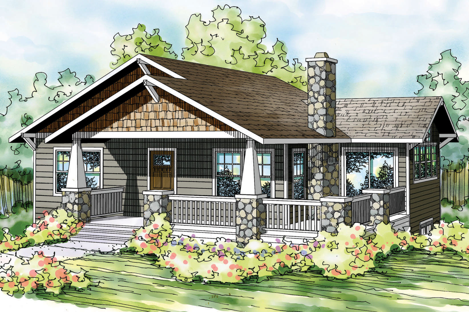 Bungalow House Plans   Lone Rock 41 020   Associated Designs Bungalow House Plan   Lone Rock 41 020   Front Elevation