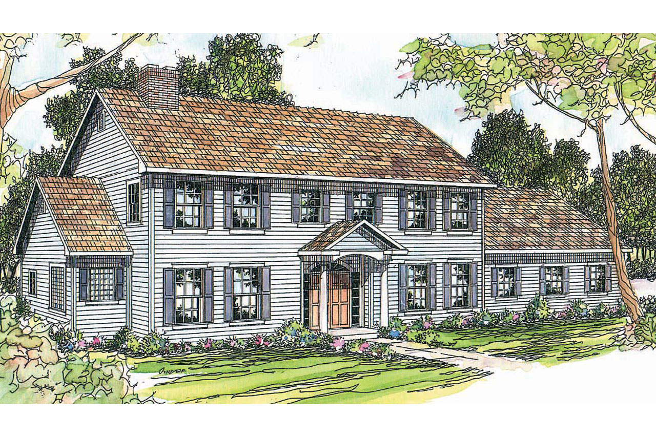 Colonial House Plans   Kearney 30 062   Associated Designs Colonial House Plan   Kearney 30 062   Front Elevation
