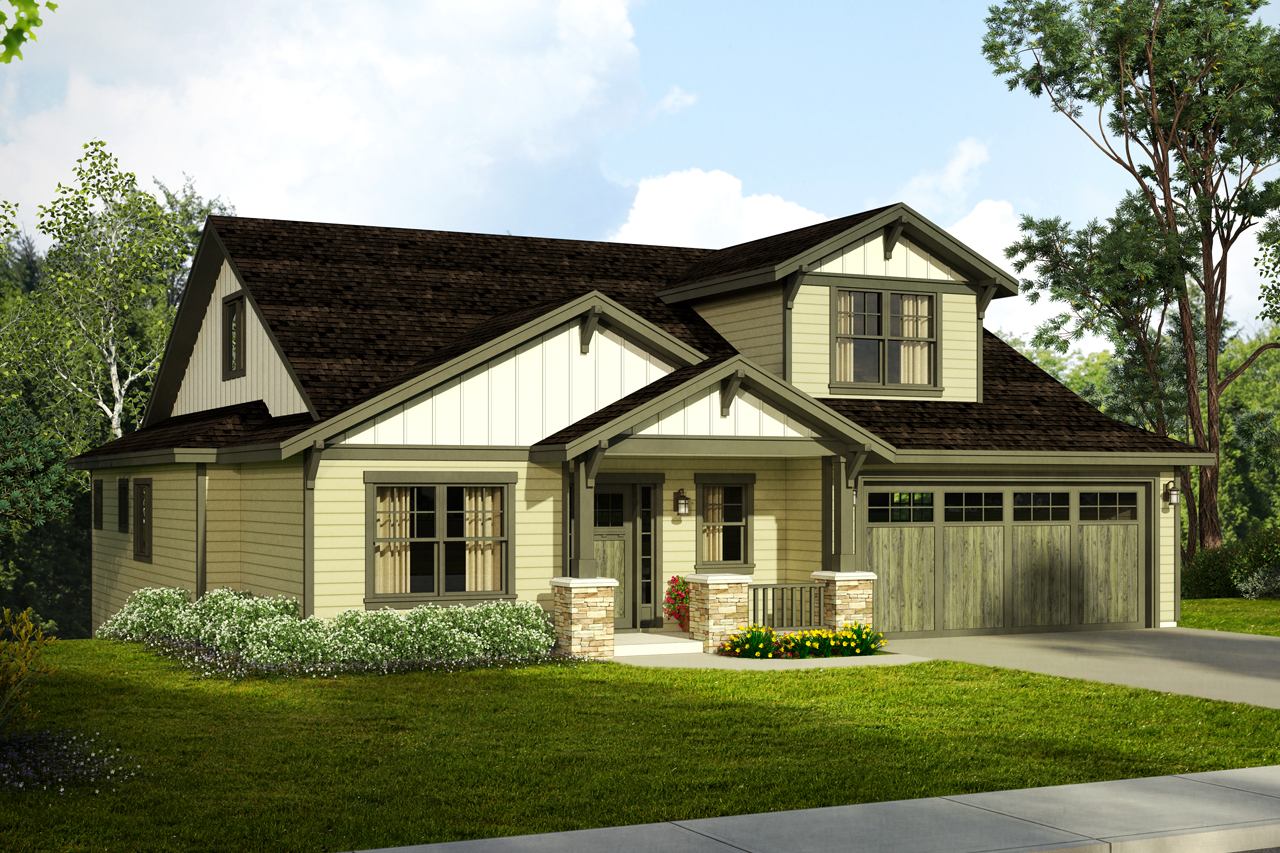 New Craftsman House Plan For A Downhill Sloped Lot