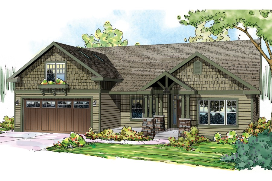 Craftsman House Plans   Sutherlin 30 812   Associated Designs Craftsman House Plan   Sutherlin 30 812   Front Elevation