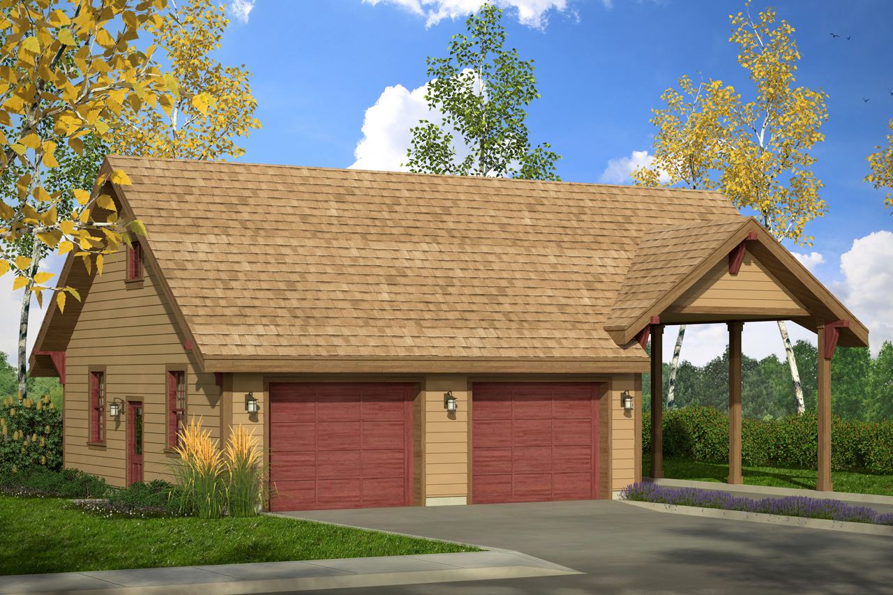 Country House Plans Garage WCarport 20 092 Associated Designs