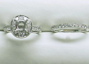 Diamond Engagement Ring Mountings & Wedding Bands
