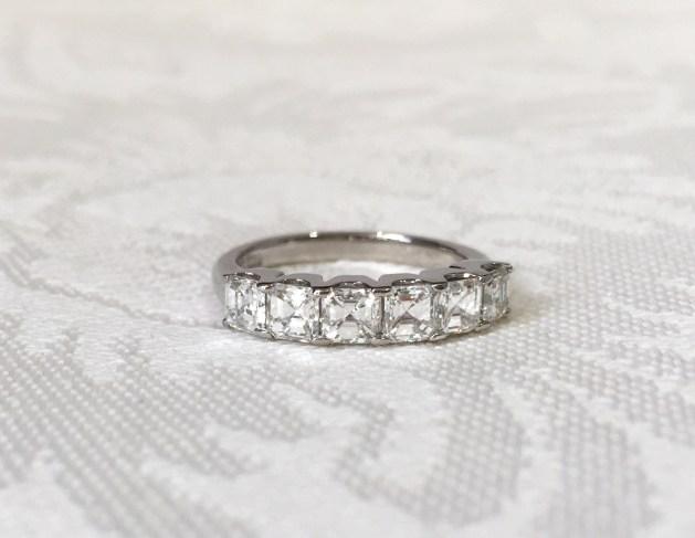 Custom Asscher Cut Diamond Band