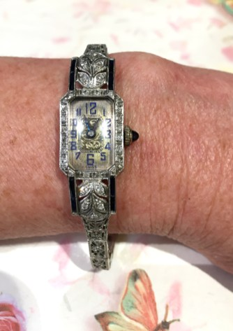 LVW 418 Platinum Diamond And Sapphire Watch