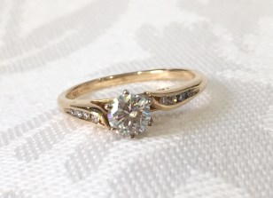 SB 2989 Yellow Gold Bypass Engagement Ring