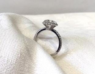 Custom Tilted Halo Engagement Ring