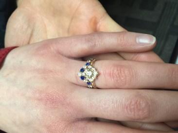 Custom Sapphire & Diamond Wedding Band