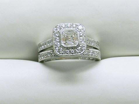 custom engagement ring wedding band