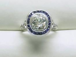 custom sapphire & diamond engagement ring