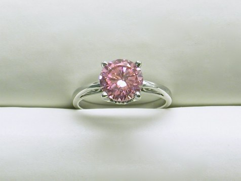 dr-2634 Pink Zircon ring in 14K white gold