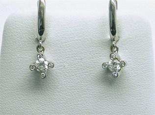 e-742a High Polished Diamond Earring-18K white gold