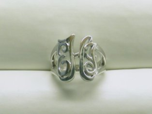 monogrammed initial ring