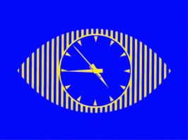 Recreation of ATV's first colour clock, used November 1969 until September 1971