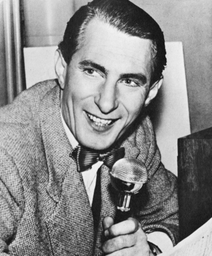 "Jack Jackson, presenter of ""Variety"" on the opening night of ITV on 22 September 1955"