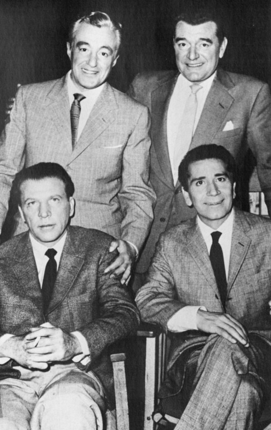 Vittorio de Sica, Jack Hawkins, Dan Dailey and Richard Conte are The Four Just Men