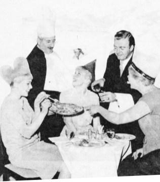 Wheeler serves turkey... Whitfield pours wine