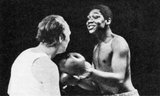 """Lenny """"The Lip"""" Henry, doing his Muhammad Ali act for New faces..."""