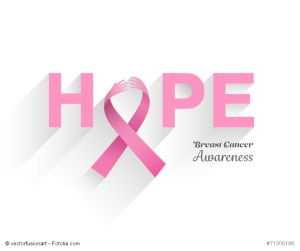 Digitally generated Breast cancer awareness message of hope