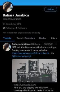 Babara Jarabica Twitter
