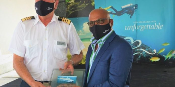 St Kitts and Nevis: Tourism Minister Grant welcomes Celebrity Equinox to Port Zante