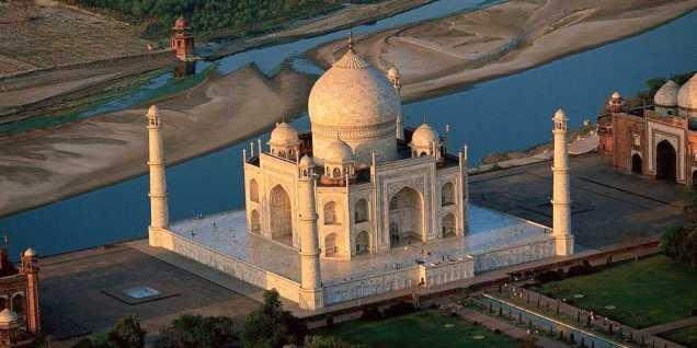 Taj Mahal Agra, on the bank of River Yamuna.