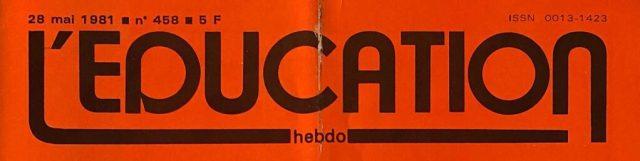 logo du magazine l'éducation