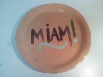 Une assiette qui dit Miam !