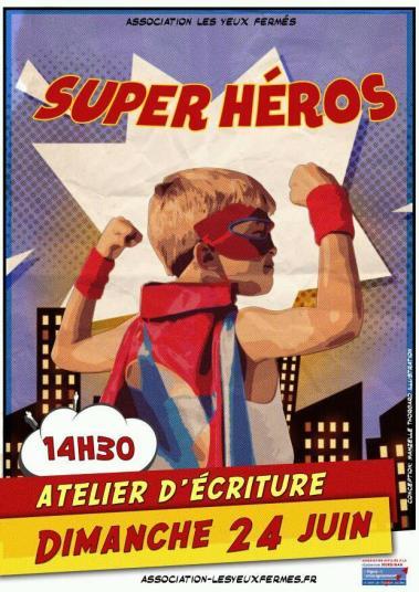 affiche_super-heros_atelier-ecriture_lorient