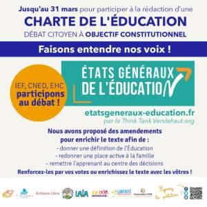 CHARTE DE L'ÉDUCATION – DÉBAT CITOYEN À OBJECTIF CONSTITUTIONNEL