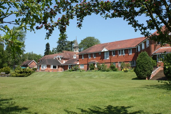Roffey Park buildings in the sunshine