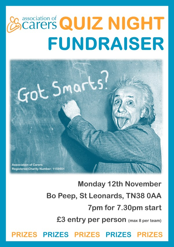 Association of Carers Quiz Night Poster