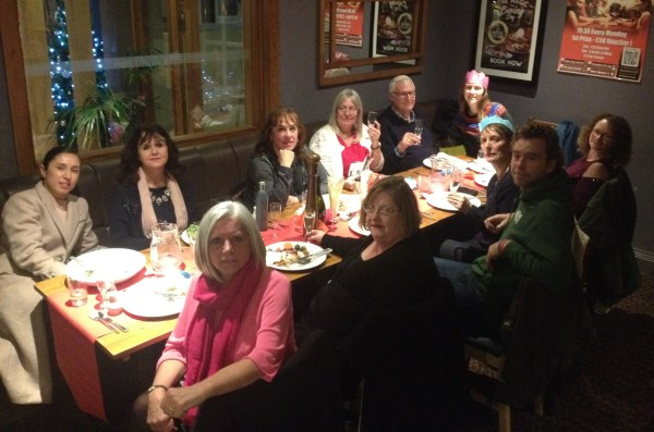 Association of Carers staff team out for lunch