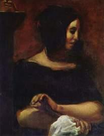 Portrait of George Sand (1838 - Eugène Delacroix)
