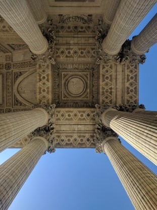 View from beneath the portico of the Pantheon