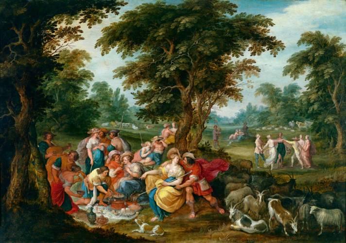 Arcadia. L'età dell'oro, Frans Francken II, Ambrosius Francken II, Hans Jordaens III, Abraham Govaerts e Alexander Keirinckx, 1620 - 1630 (ca)