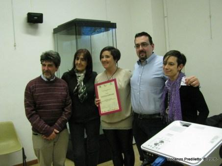 Da sx: Stefano Vignaroli, Susanna Polimanti, Elena Coppari, Lorenzo Spurio, Gioia Casale
