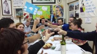 da sinistra Sofia Quinodoz, Demetrio Iramain, Juan Manuel Morente, Luis Zarranz, Andres Paul e Carla
