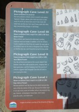 Park description shows ages of items found at the Pictograph Cave complex.