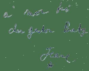 Dédicace de Jean Cocteau à Gaston Baty