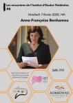 Les rencontres de l'IET #6 : Anne-Françoise Benhamou