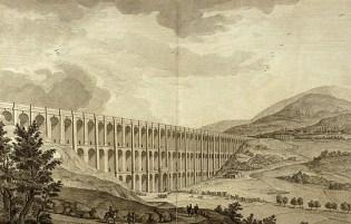 1756_-_ITALY_-_Aqueduct_Carolino_-_I_ponti_della_Valle_-_drawing_of_structure_and_architecture_L. VanvitelliI. I ponti della Valle dalla Dichiarazione dei disegni. Napoli 1756