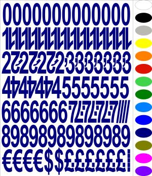 Numbers & Symbols Stickers