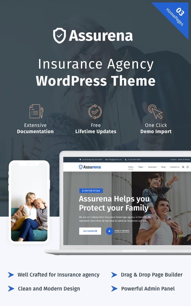 Assurena - Insurance Agency WordPress Theme 1
