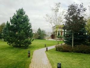 Ландшафтное проектирование. Дорожка из клинкера с декоративными садовыми светильниками