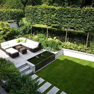Модерн и минимализм в ландшафтном дизайне