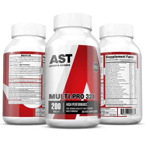 MultiPro 32X - The Serious Athlete's Multi-Vitamin - 3-Up