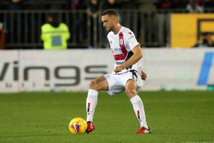 Sebastian Walukiewic in action for Cagliari. (GETTY Images)