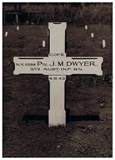 Monty Dwyer's grave at Milne Bay before his remains were relocated to Bomana in Port Moresby