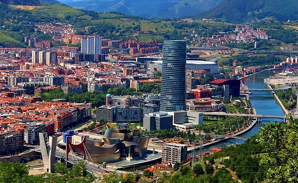 Bilbao desde Artxanda, las casas de Astei