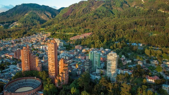 Vista aérea de Bogotá (Colombia)